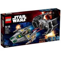 Lego Star Wars TIE Advanced kontra myśliwiec A-Wing 75150
