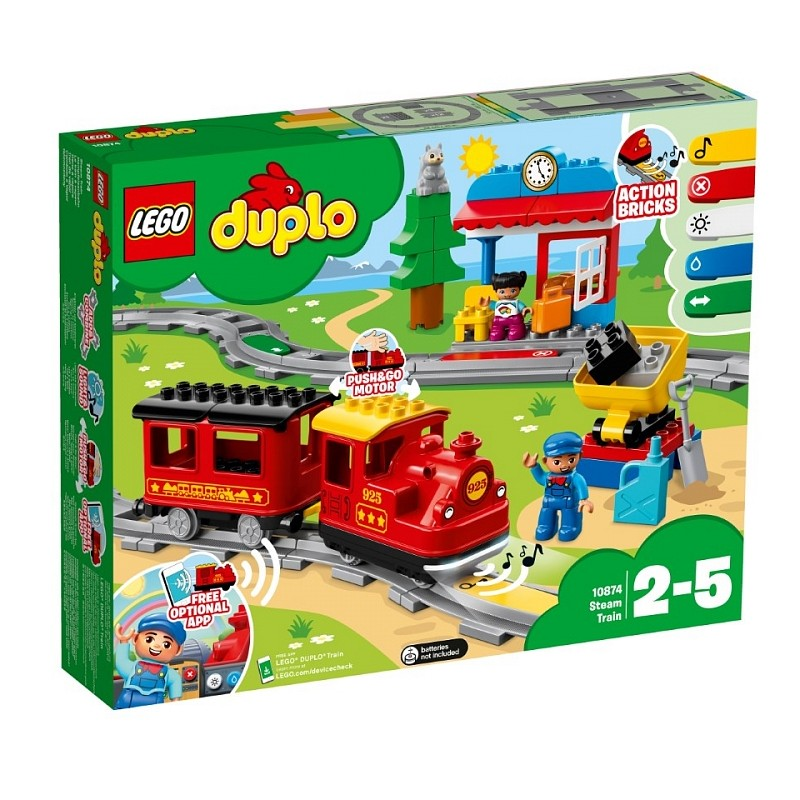 Lego Duplo Pociąg Parowy 10874 Zabafffki