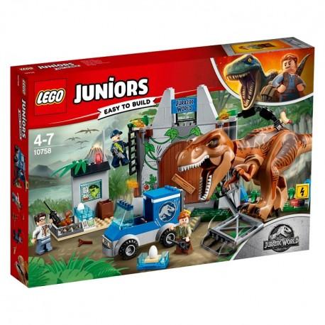 Lego Jurassic World T. rex na wolności 10758
