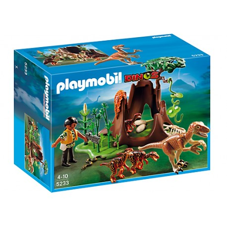 PLAYMOBIL Atak Velociraptora na gniazdo Deinonychusów 5233