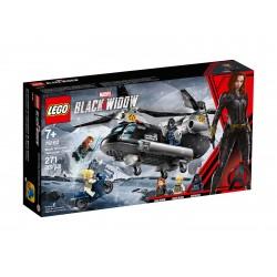 Lego Marvel Czarna Wdowa i pościg helikopterem 76162