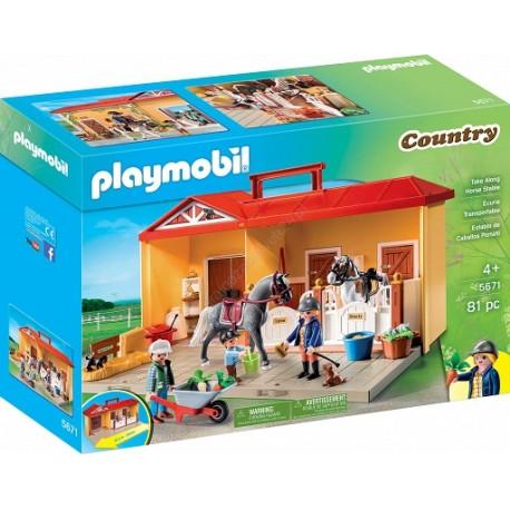 PLAYMOBIL Country Nowa przenośna stajnia 5671