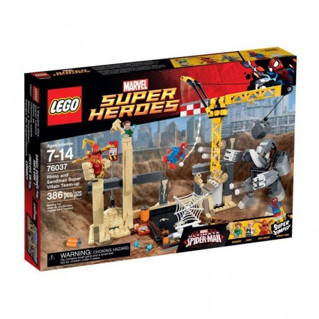 Lego Super Heroes Atak Rhino i Sandmana 76037